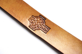 Leather Bookmark | Celtic Cross - $10.00