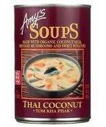 Amy's Organic Tom Kha Phak Thai Coconut Soup, 14.5 oz Can, Case of 12 vegan - $57.99