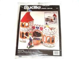 NEW 1994 BUCILLA Plastic Canvas Castle Playset 6113 Knight Princess Drawbridge - $47.09
