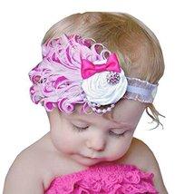 Beautiful Baby Girl Headband Cute Feather Apparel Accessory Pink (1~4Y)