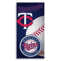 "MINNESOTA TWINS BEACH TOWEL MLB MULTI LOGO COTTON POOL BATH TOWEL 60"" X 30"" - $15.79"