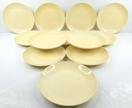 "12 Royal Doulton Gordon Ramsay Maze Buttermilk Yellow 8.75"" Salad Plate Dish Set - $128.37"