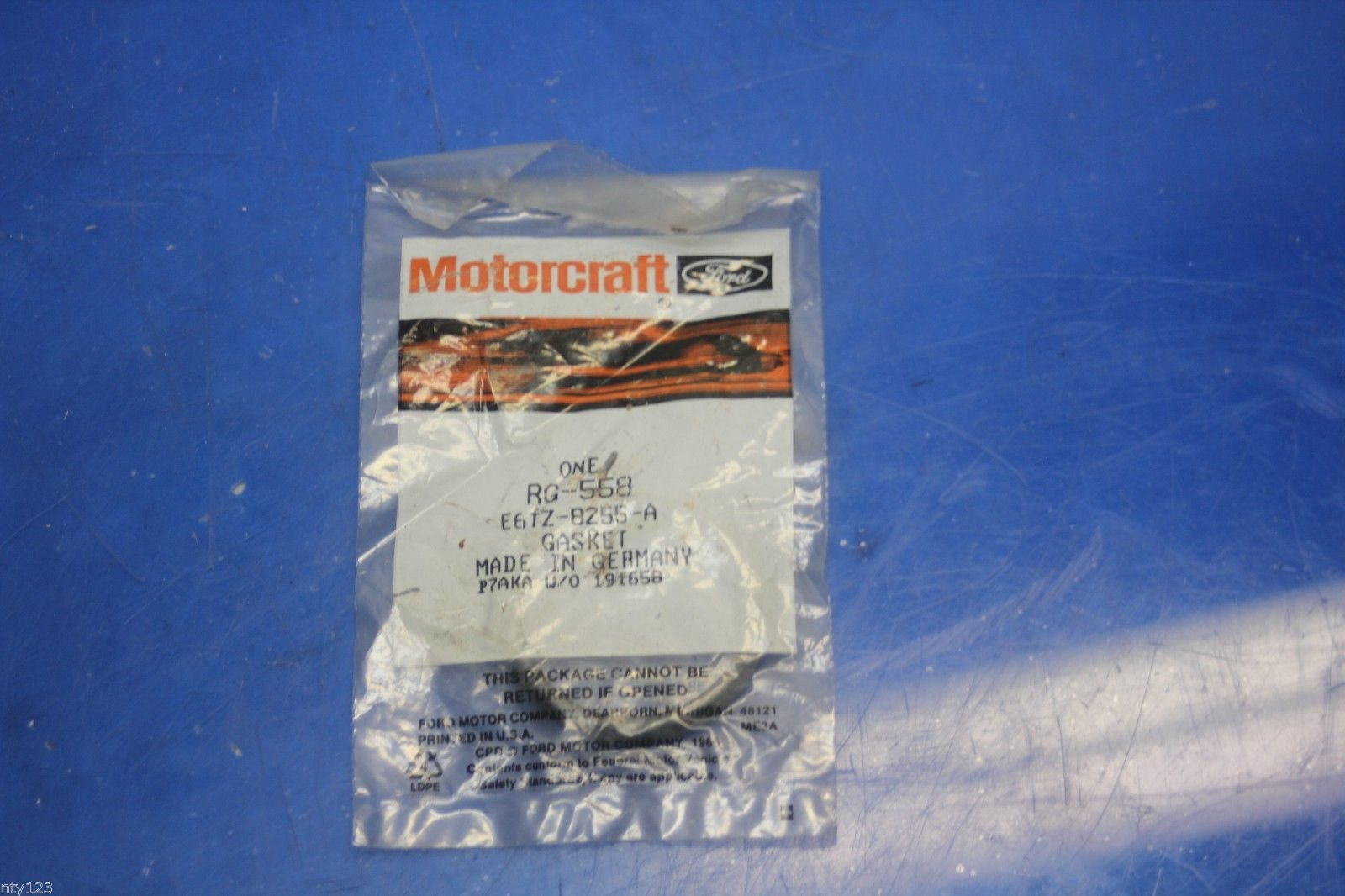 MOTORCRAFT RG-558 FORD E6TZ-8255-A Rubber Ring