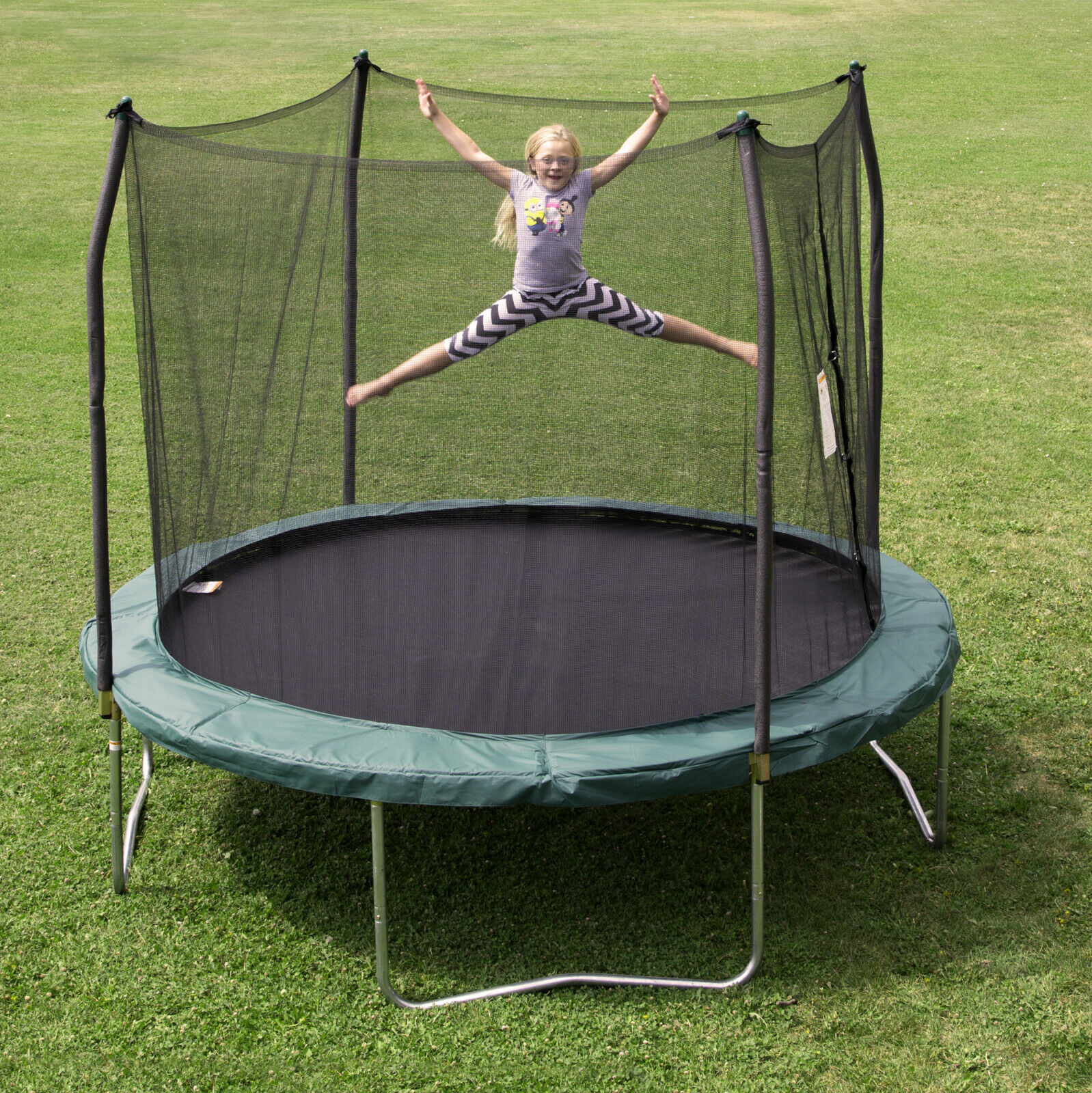 Trampoline Parts Center Coupon Code: Outdoor Trampoline Bouncer With Enclosure And Wind Stakes
