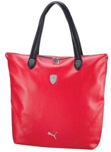 PUMA FERRARI WOMEN'S F1 TEAM SHOPPING TOTE LARGE BAG RED PMMO1033 NEW W/ DEFECTS