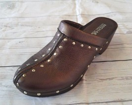 Michael Kor Metallic Leather Studs Studded Clog... - $34.64