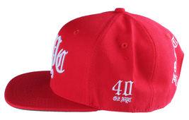 40oz Forty Ounce NYC Big Apple New York Old English Red Snapback Baseball Hat image 5