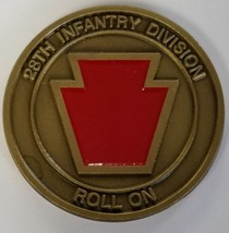 US ARMY 28th Infantry Division Persuasive In Peace Invincible In War Coin - $49.49