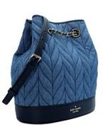 New Kate Spade New York Bucket Backpack Briar Lane Quilted Denim - $123.70