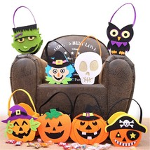 Halloween Candy Trick Treat Tote Kids Party Pumpkin Gift Bag Cloth Pouch... - $4.99