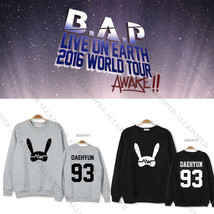Kpop BAP Sweater 2016 LIVE WORLD TOUR Sweatershirt B.A.P Hoodie Unisex Y... - $9.69