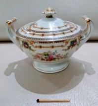 Vintage Noritake Giftcraft Lidded Sugar Bowl Hand Painted Occupied Japan... - $33.95