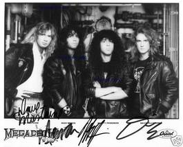 MEGADETH SIGNED AUTOGRAPHED RP PROMO PHOTO MEGADEATH NICK MENZA DAVE MUS... - $16.99