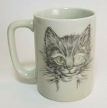 Vintage Otagiri Japan Coffee Mug Cat Kitten Sketch Face Gibson Greetings - $14.80