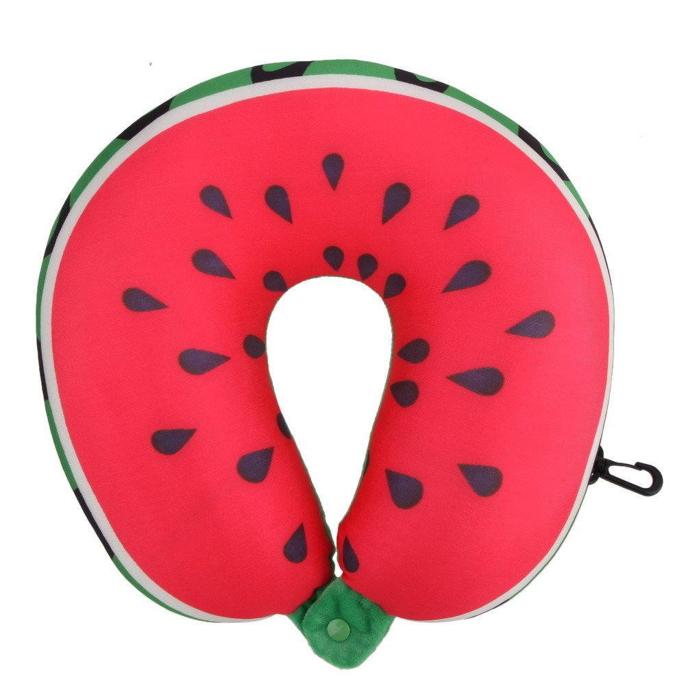 Neck Travel Pillow Fruit U Shaped Head Support Air Cushion Portable Airplane Car