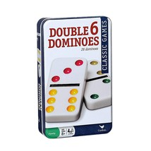 Cardinal Double Six Color Dot Dominoes In Color Collectors Tin, 28 Dominoes - $10.57