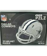 Dallas Cowboys 3D Helmet New sealed Foco NFL 46 piece Puzzle PZLZ Dak El... - $23.52