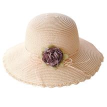 SAGACE hats Women Summer beach sun Hat Wide Brim Cap Wide Brim Straw Floppy Derb image 5
