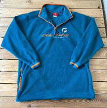 NFL Men's Miami Dolphins 1/4 Zip Pullover Fleece Top Size L Turquoise i8 - $39.59