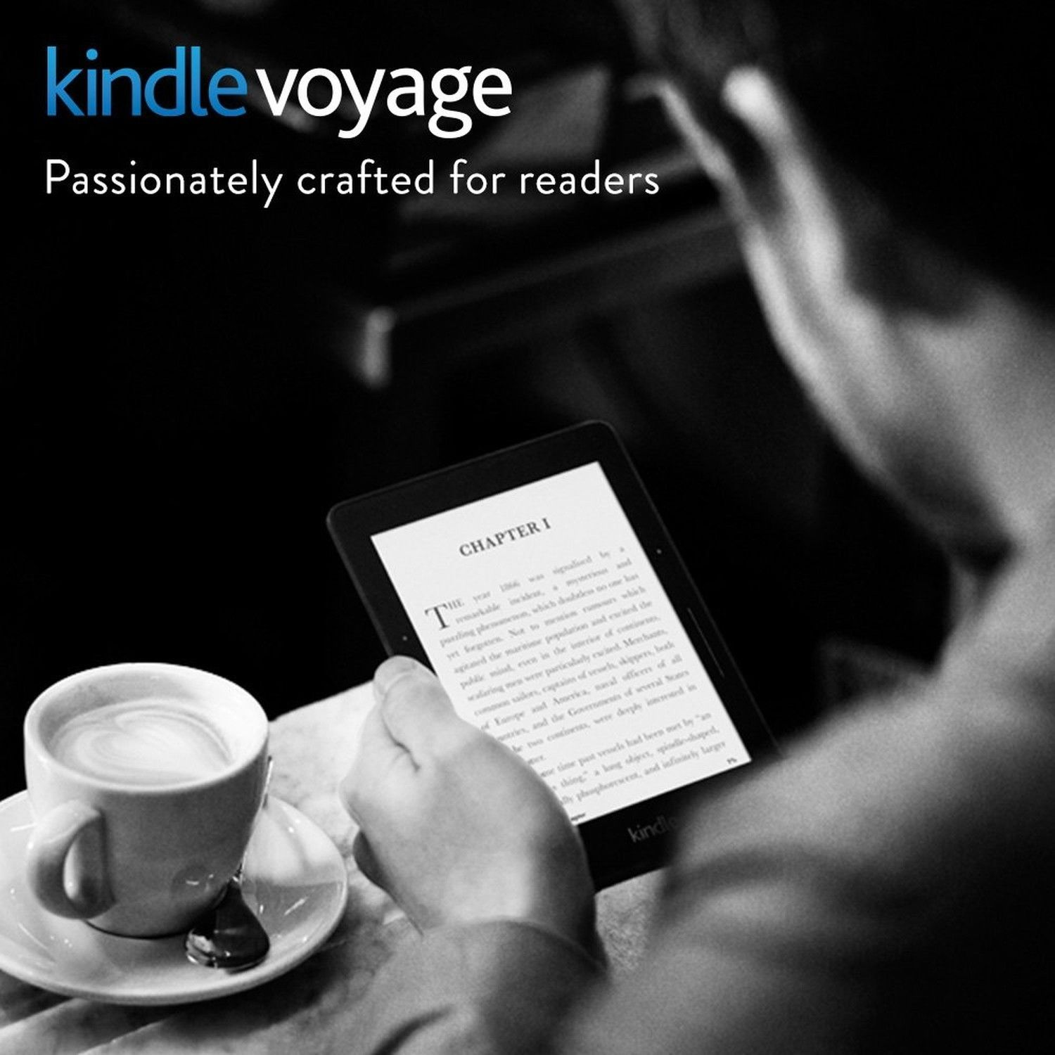 "Kindle Voyage E-reader, 6"" High-Resolution Display (300 ppi) with Adaptive Bu..."