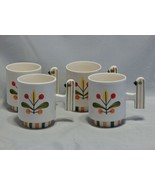 1960 Holt Howard Set of 4 Bird Handle Mugs Rare - $94.05