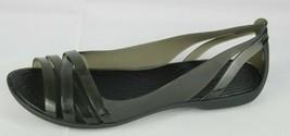 Crocs Isabella women's sandals rubber flat slip on size 6 - $21.22