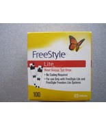 100 Freestyle Lite Blood Glucose Test Strips Exp dates are 03/2019 - $53.46