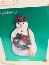 Hallmark Winter Friends Snowman Marjolein Bastin 22475 Display - $19.79