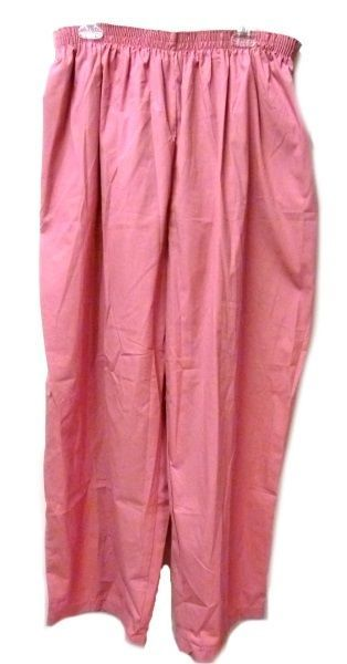 P.R.N 1067 Elastic Waist Uniform 5XL Geranium Pink Scrub Pants Bottom New image 2