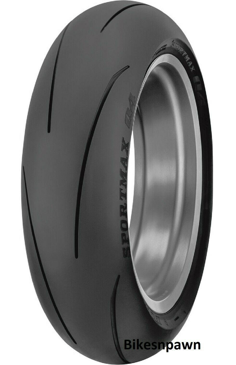 New 190/55ZR17 Dunlop Q4 Sportmax Rear Radial Motorcycle Tire 75W TL