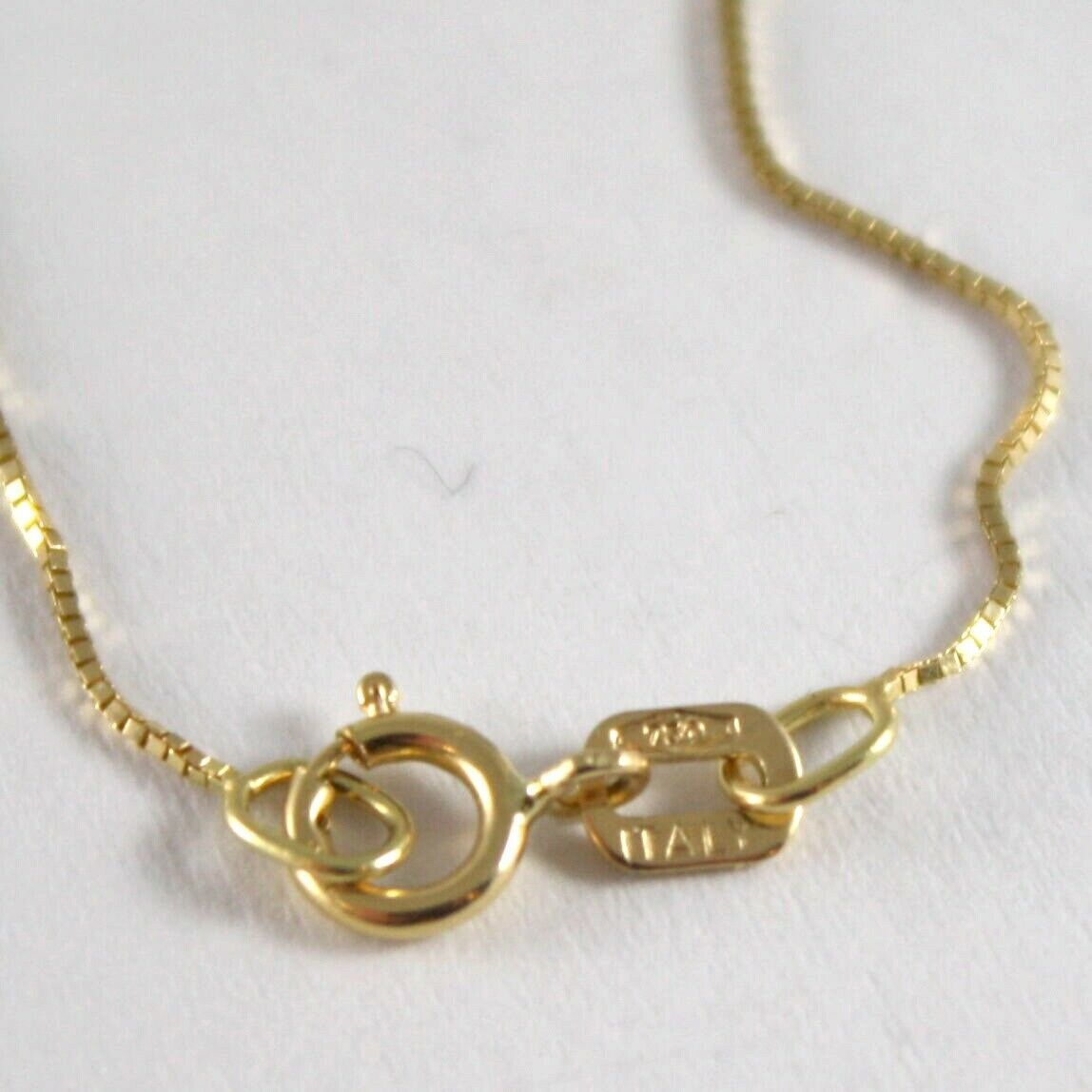 18K YELLOW GOLD CHAIN NECKLACE 0.5 mm MINI VENETIAN LINK 19.68 IN. MADE IN ITALY