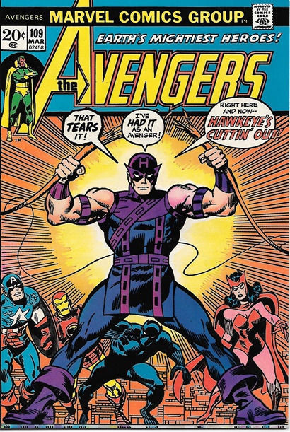 The Avengers Comic Book #109, Marvel Comics Group 1973 VERY FINE+