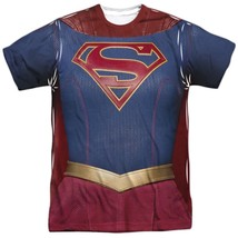 DC Comics Supergirl TV Show Uniform Costume Outfit Allover FRONT T-shirt top - $26.99+
