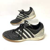Adidas Mens Leather Soccer Sneakers Sz 11 Black Silver Style SPG753001 (... - $37.04