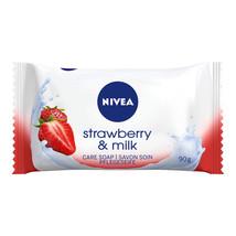 Nivea Bar Soap: Strawberry & Milk - 90 G - $2.62