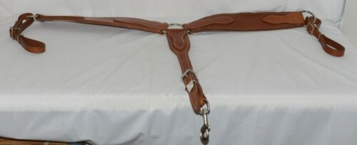Unbranded 3573 Roper Breast Collar Medium Brown Leather