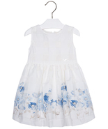 Mayoral Little Girls 2T-9 Floral Border Organza Check Social Party Dress - $46.90