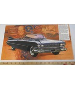1959 Cadillac 62 Convertible Car Print Picture Laminated 18x10 Ad Ike Ei... - $12.86