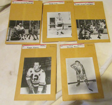 OLD HOCKEY B&W PHOTOS & NEGATIVES BABE DYE DUGUAY ROGER GAGNE BUZZ BOLL ... - $13.10
