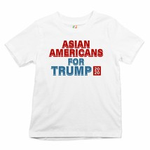 Asian Americans for Trump 2020 Youth T-shirt Conservative Vote Red MAGA ... - $13.63+