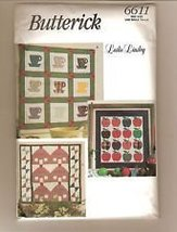 Butterick 6611 Sewing Pattern Leslie Linsey Wall Hangings - $9.80