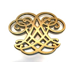 Brass Trivet Thomas Jefferson Monticello by Virginia Metalcrafters Heavy... - $34.64