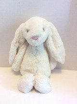 Jellycat Blossom Bashful White Bunny Rabbit Floppy Ears Plush Stuffed An... - $16.82