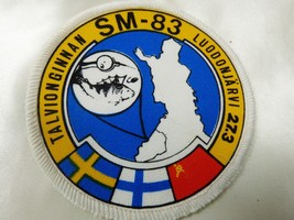 VTG Sweden Finland USSR Winter Fishing Angling SM-83 Luodonjarvi 27.3 Patch - $25.99