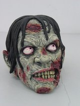 UNDEAD ZOMBIE SKULL DECAYING MOUTH FLESH WOUND STATUE HALLOWEEN DECOR - $28.91