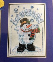Janlynn Frosty Let It Snow Counted Cross Stitch Kit True Colors 157-83 S... - $8.63