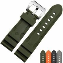 Green Military Rubber Strap Bracelet for PAM Officine Panerai Luminor 24/22mm - $49.99