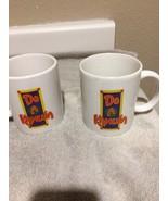 (2)  KAHLUA COFFEE MUGS / CUPS--LIQUEUR--DO A KAHLUA--FREE SHIP--VGC - $22.37