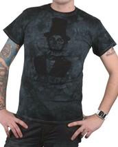 Zero Skateboarding Black Blue Tie-Dye Lincoln Dead President T-Shirt NWT