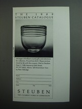 1989 Steuben Crystal Ad - The 1989 Steuben Catalogue - $14.99